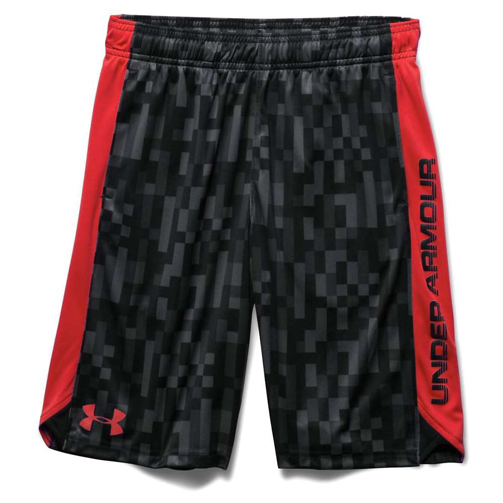 Under Armour Boys' Eliminator Printed Short - XL - Graphite / Risk Red / Risk Red