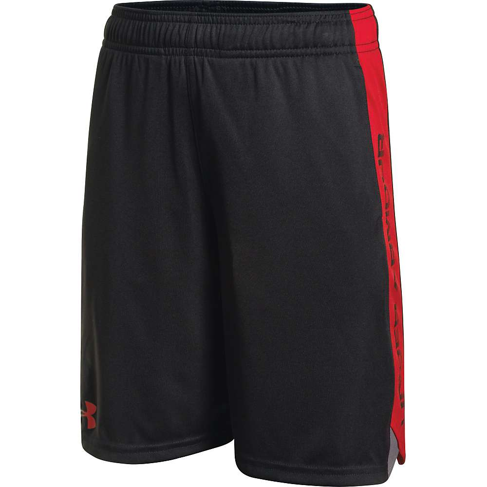 Under Armour Boys' Eliminator Short - Medium - Black / Graphite / Risk Red