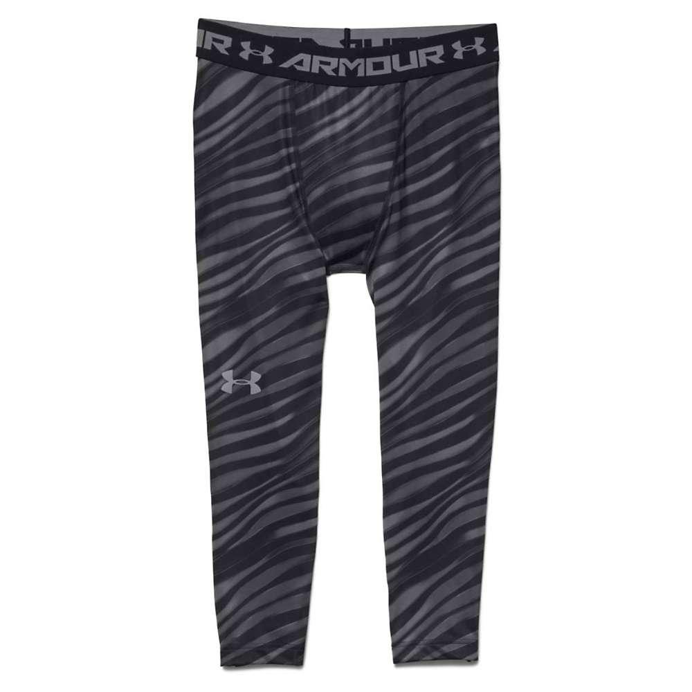 Under Armour Men's HeatGear Armour 3/4 Printed Legging - XL - Black / Steel