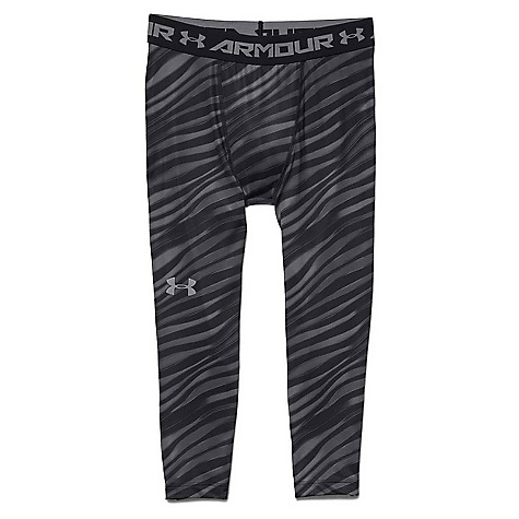 Under Armour Men's HeatGear Armour 3/4 Printed Legging Black / Steel