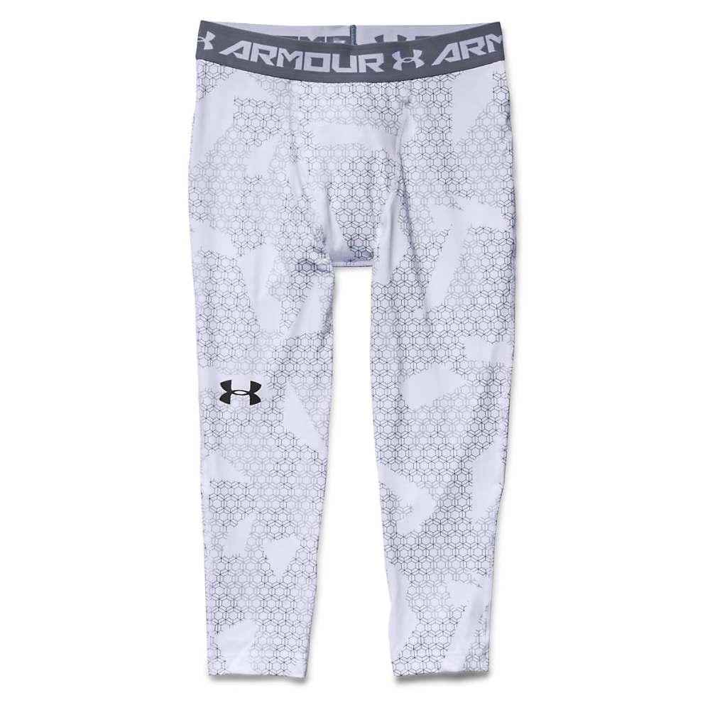 Under Armour Men's HeatGear Armour 3/4 Printed Legging - XXL - White / Steel / Black