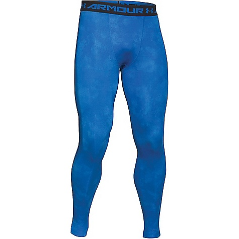 Under Armour Men's HeatGear Armour Compression Printed Legging Blue Jet / Black