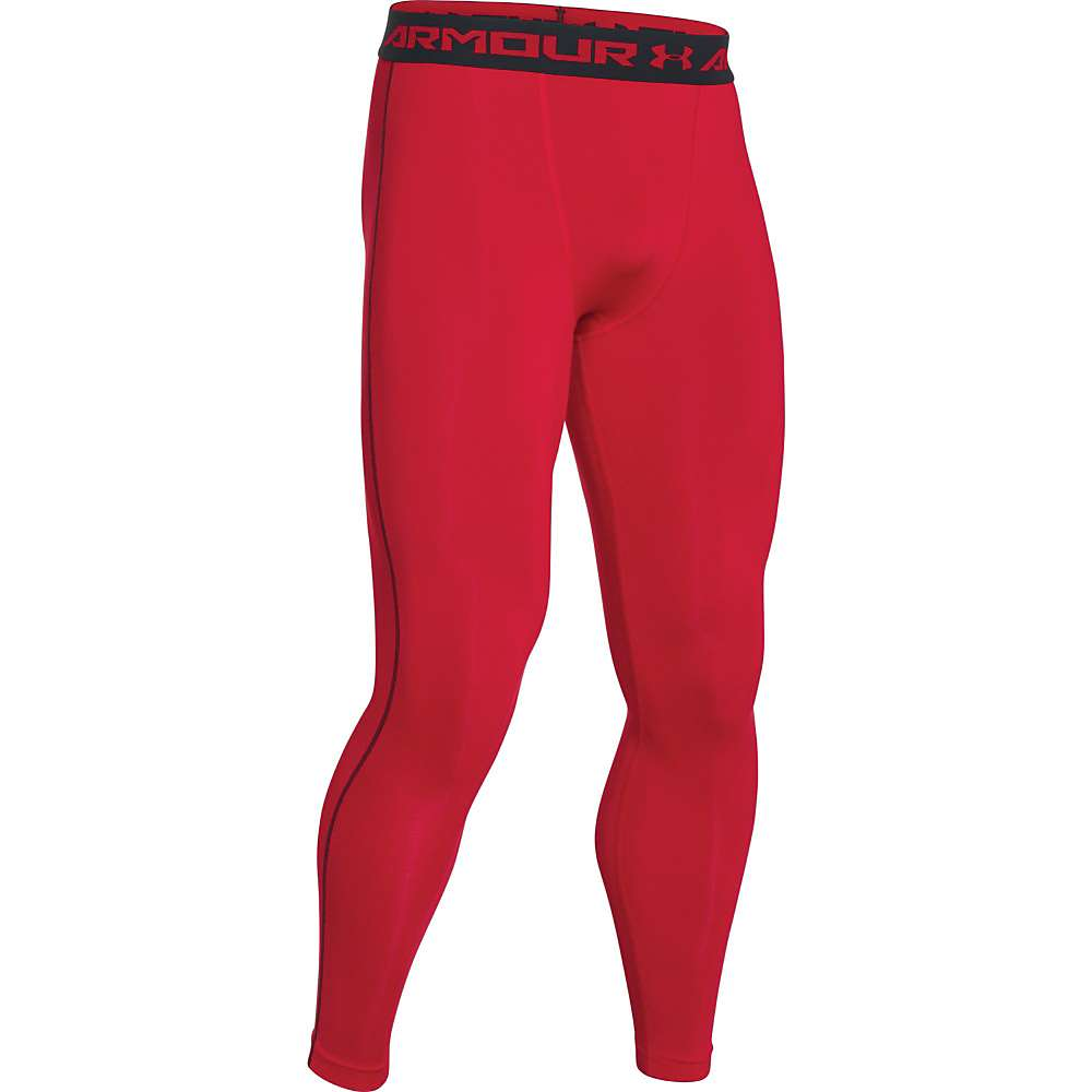 Under Armour Men's HeatGear Armour Compression Legging - XL - Red / Black