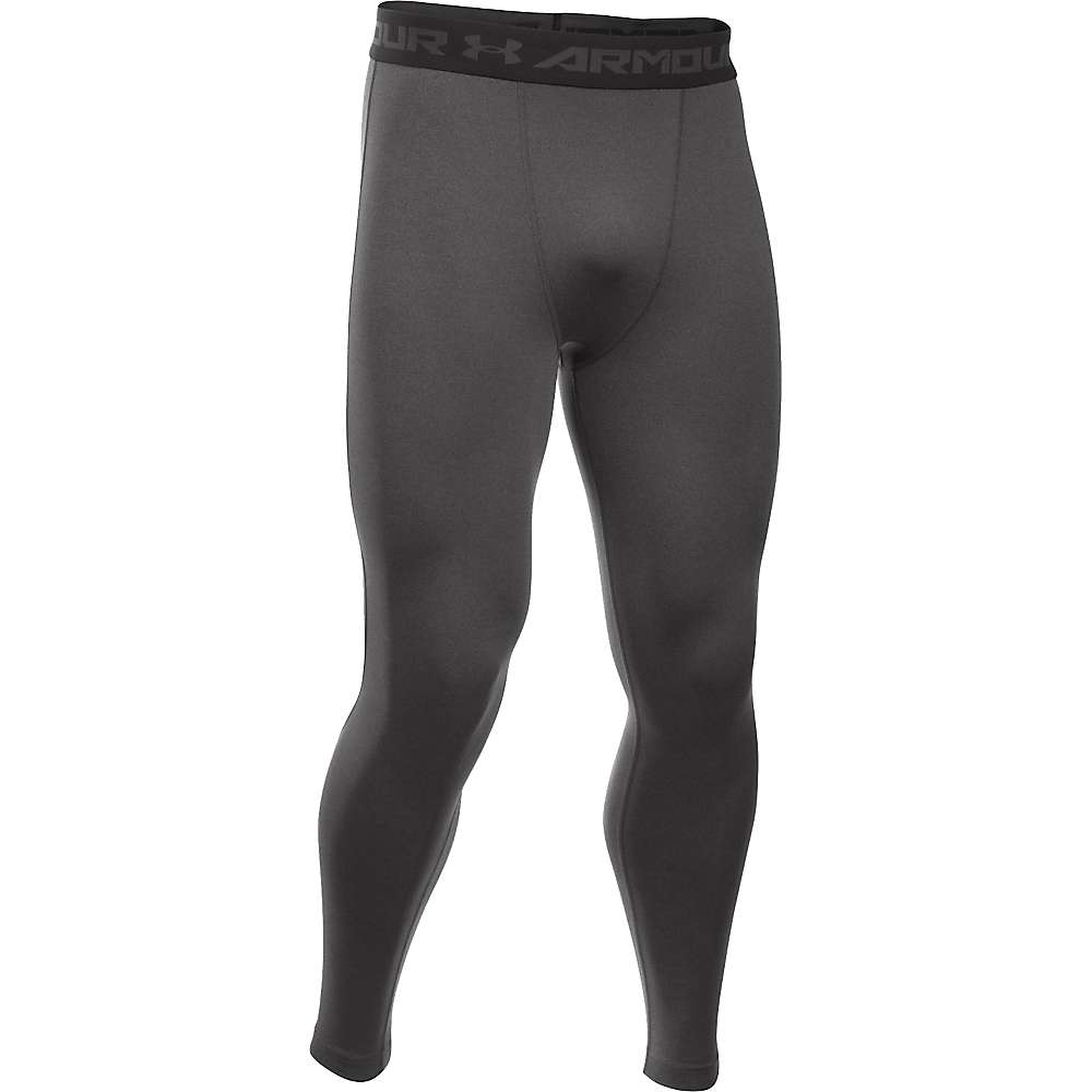Under Armour Men's HeatGear Armour Compression Legging - XL - Carbon Heather / Black