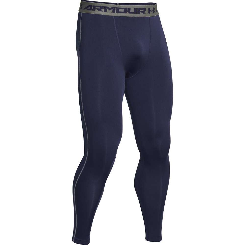 Under Armour Men's HeatGear Armour Compression Legging - XL - Midnight Navy / Steel