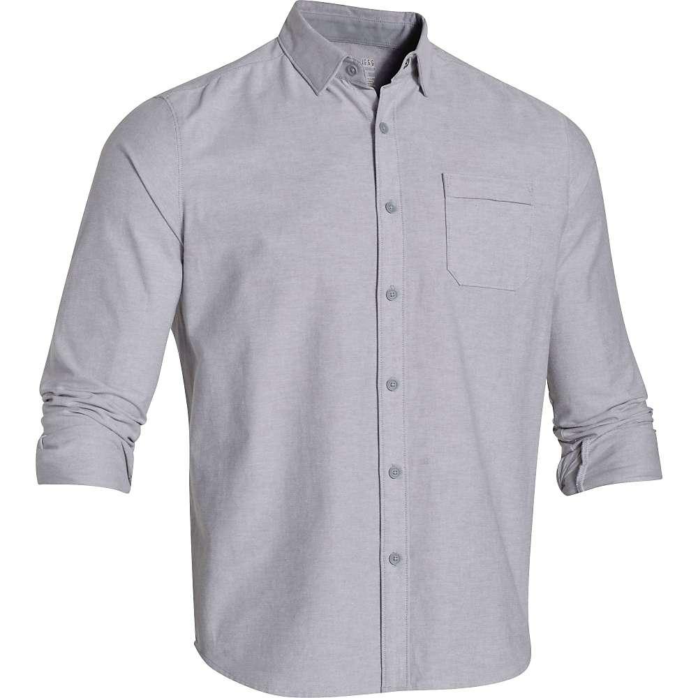 Under Armour Men's Oxford Shirt - XXL - True Gray Heather / Steel