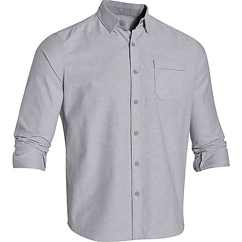Under Armour Men's Oxford Shirt True Gray Heather / Steel