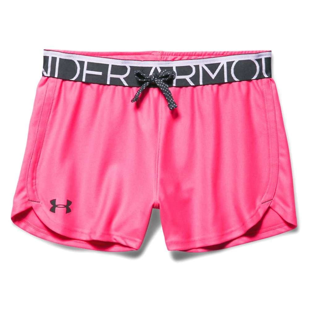 Under Armour Girls' Play Up Short - XL - Pink Punk / Stealth Gray