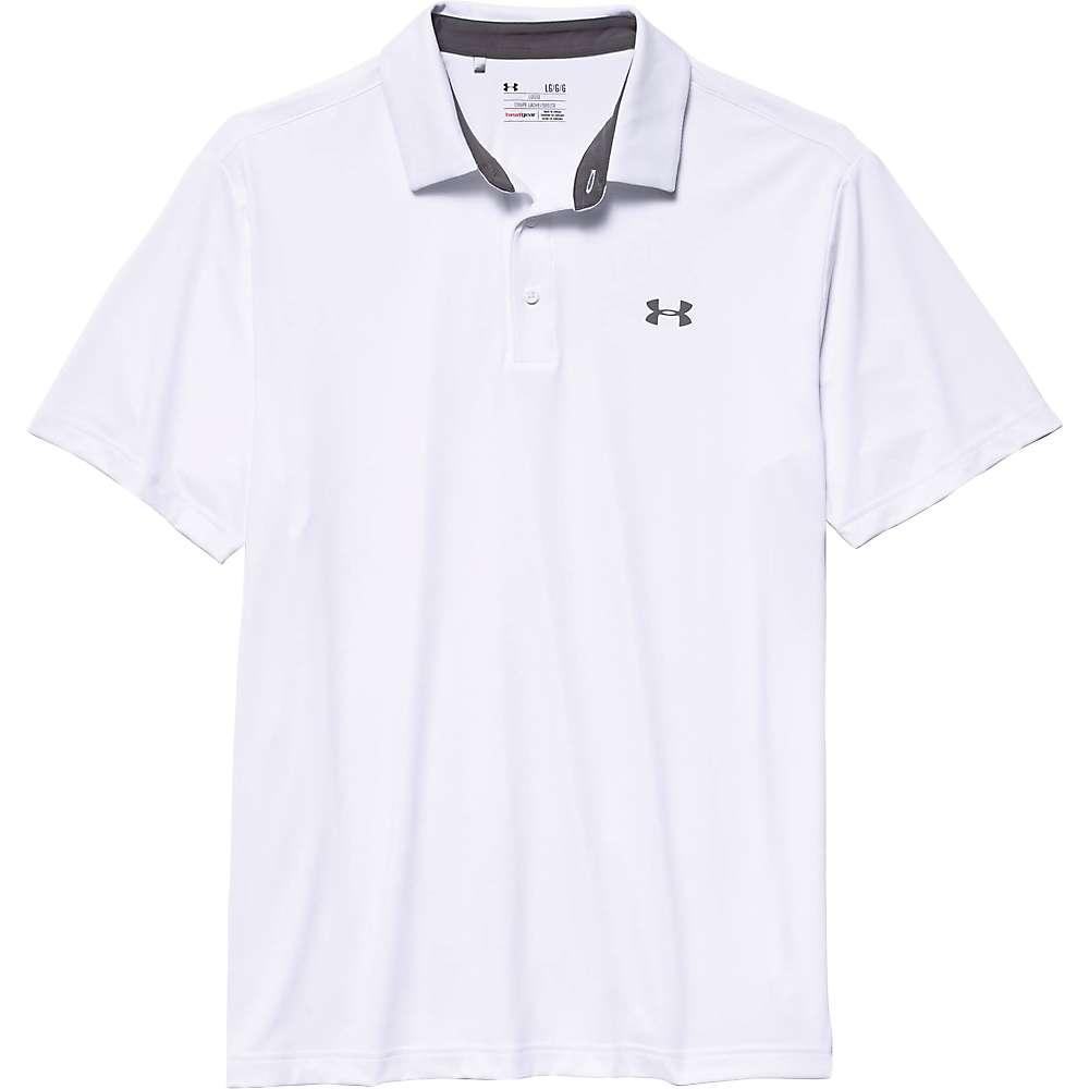 Under Armour Men's UA Playoff Polo - XXL - White / Graphite / Graphite