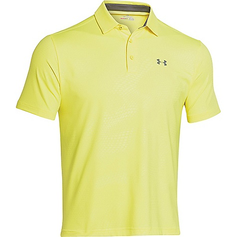 Under Armour Playoff Golf Polo - Mens - High-Vis Yellow/Graphite