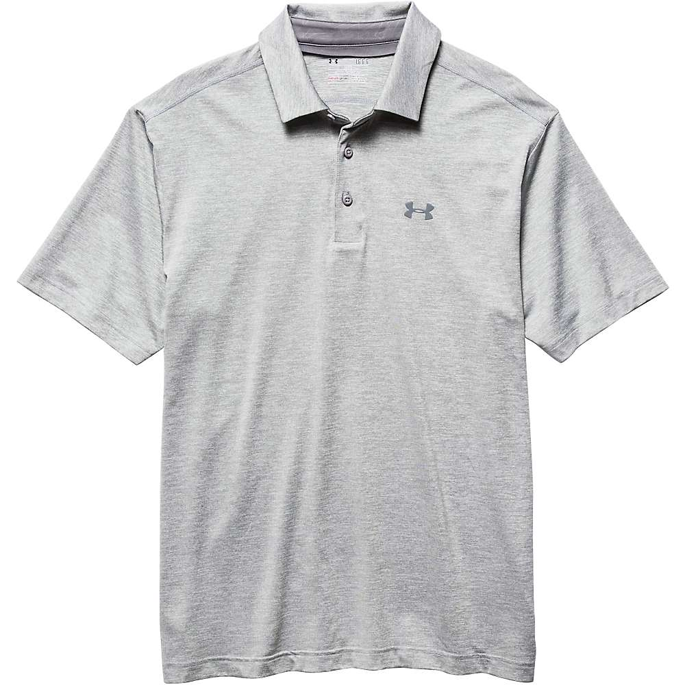 Under Armour Men's UA Playoff Polo - XXL - True Grey Heather / True Grey Heather / Graphite