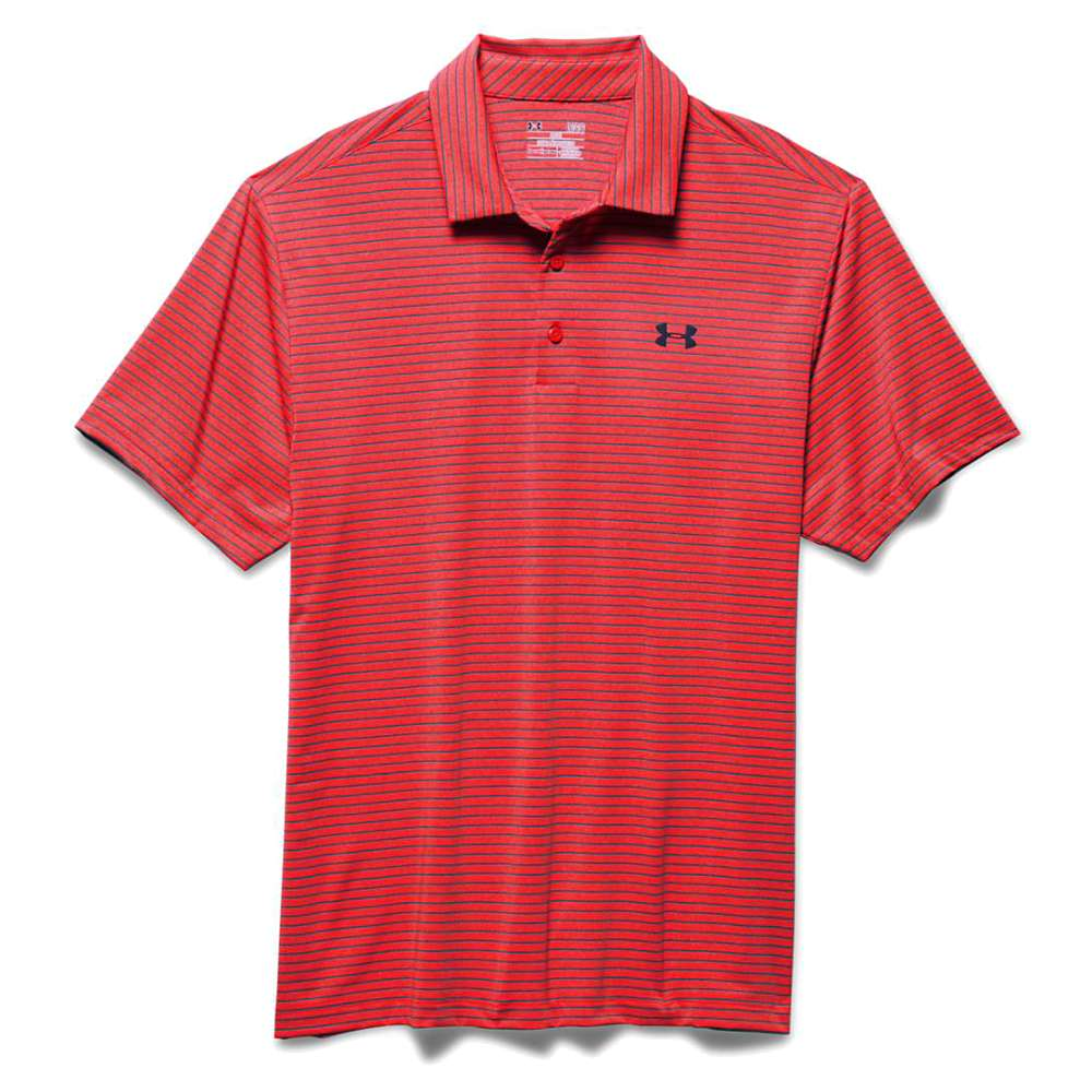 Under Armour Men's UA Playoff Polo - XXL - Rocket Red / Slate Blue / Blackout Navy