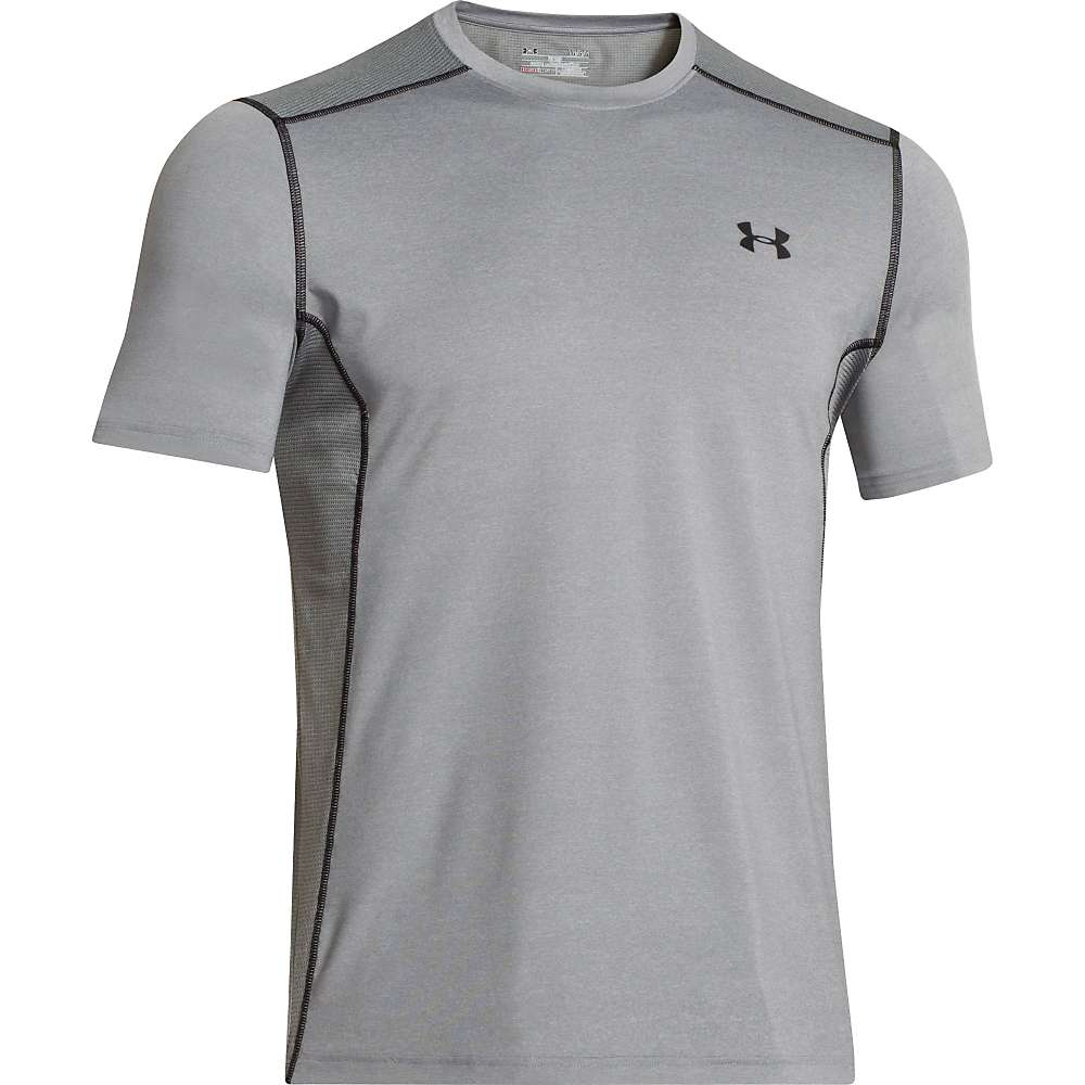 Under Armour Men's UA Raid SS Tee - XL - True Gray Heather / True Gray Heather / Black