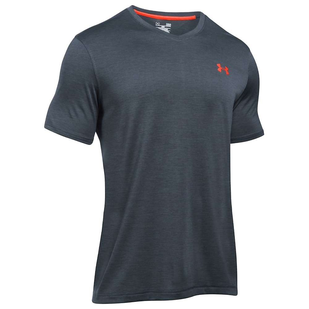 Under Armour Men's UA Tech V-Neck Tee - Small - Stealth Grey / Black