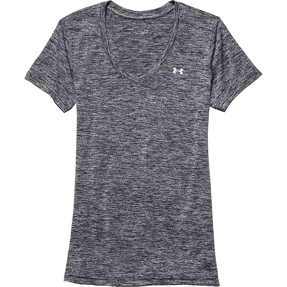 Under Armour Women's UA Tech Twist V-Neck Tee - Medium - Black / Metallic Silver