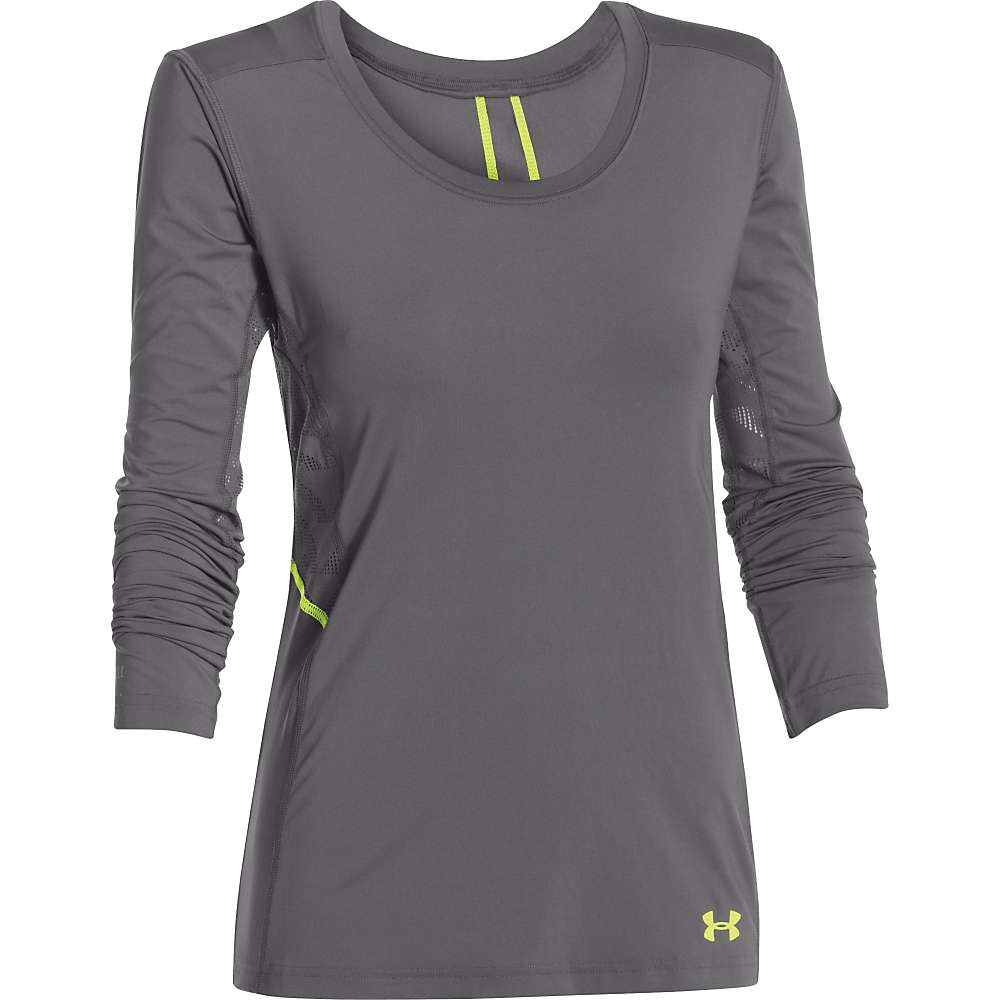 Under Armour Women's UA ArmourVent Moxey LS Top - Small - Graphite / X-Ray