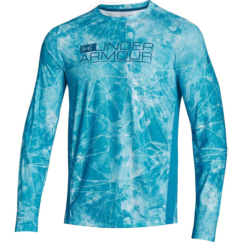 Under Armour Men's UA Iso-Chill Element Vented LS Top - XXL - Deceit / Sapphire Lake