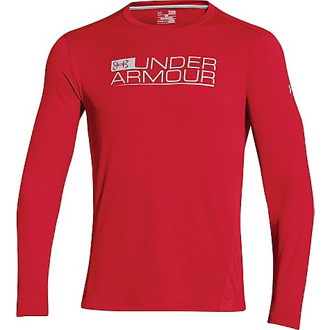 Under Armour Men's UA Iso-Chill Element Vented LS Top Red / Elemental