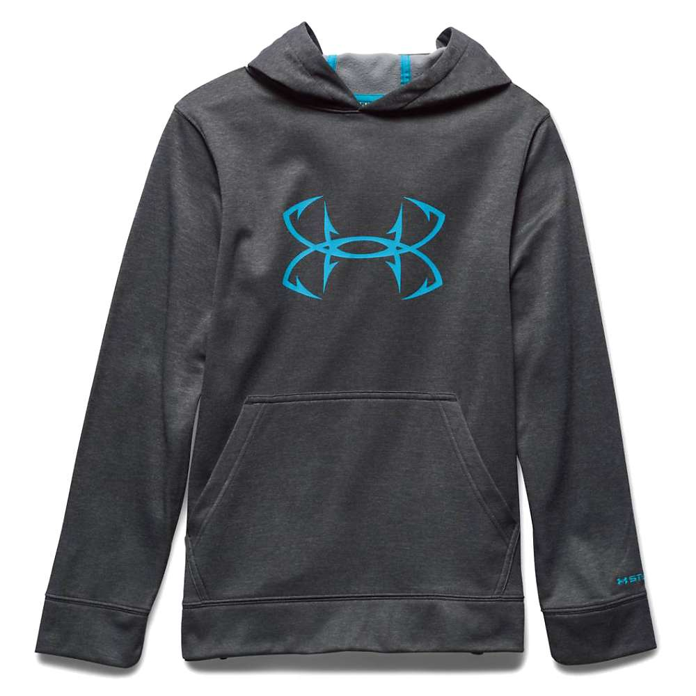 Under Armour Boys' UA Storm Fish Hook - XS - Carbon Heather