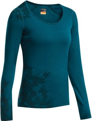 Icebreaker Women's Oasis LS Scoop Foliage Top
