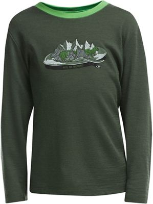 Icebreaker Kid's Tech LS Crew Alps For Breakfast Top