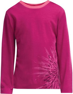 Icebreaker Kid's Tech LS Crewe Chrysanthenum Top