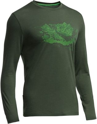 Icebreaker Men's Tech Lite LS Crew Mtn Home Top