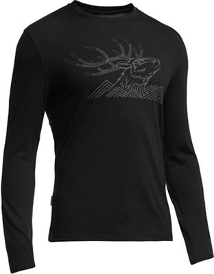 Icebreaker Men's Tech Lite LS Crew Antler Mtn Top