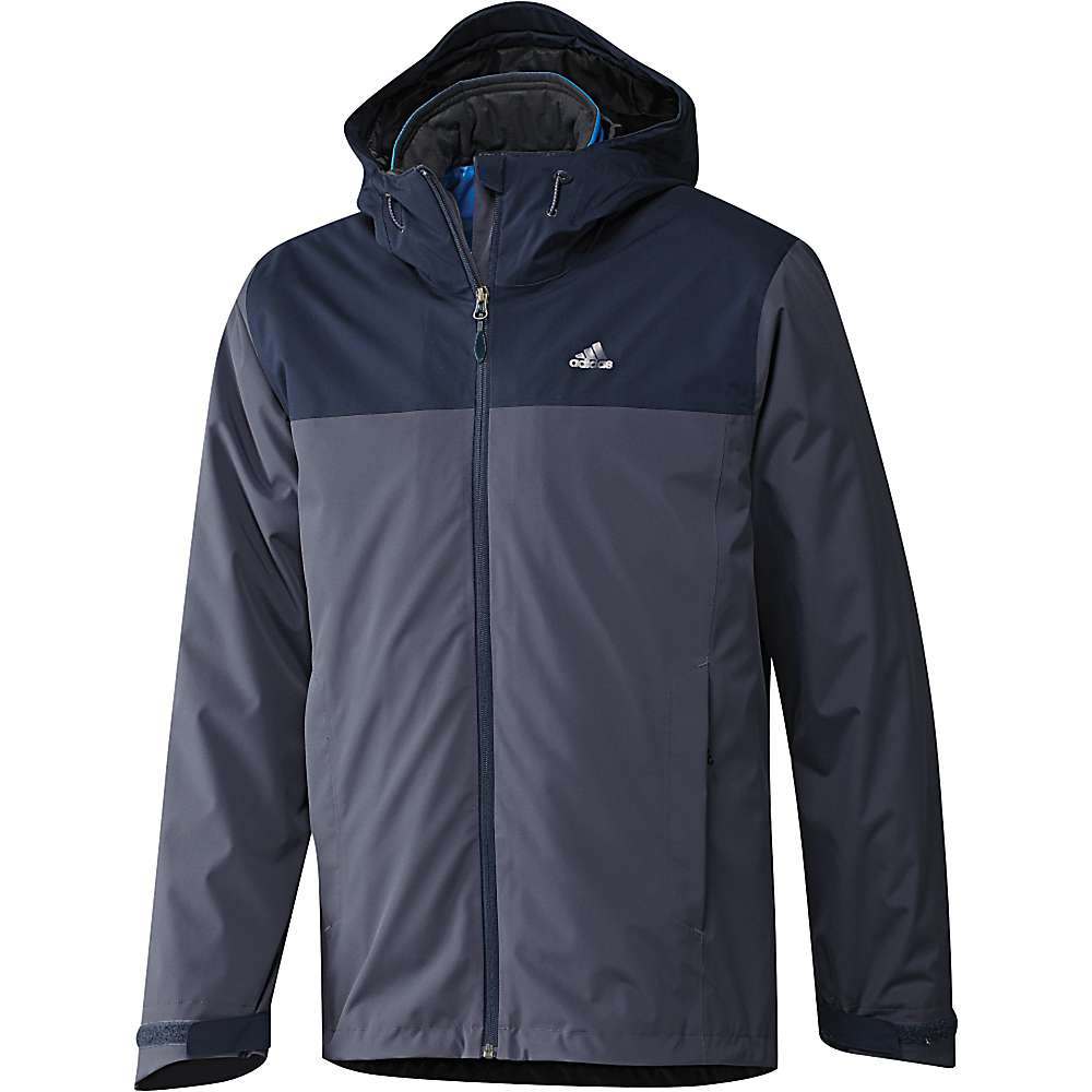 Adidas Men's 3IN1 Insulated Wandertag Jacket - Large - Midnight Grey