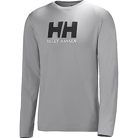 Helly Hansen Men's HH Logo LS Tee Grey Melange