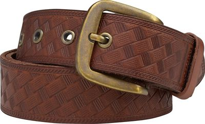 Burton Embossed Leather Belt - Men's