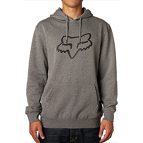 Fox Men's Legacy Fox Head Pullover Fleece Hoody Heather Graphite