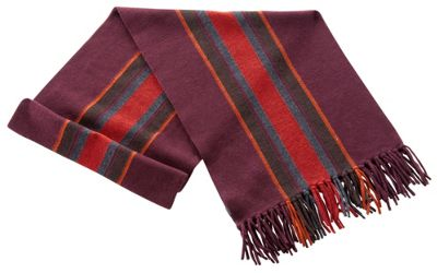 Ibex Men's Stripe Scarf - Fringe