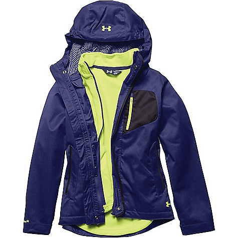 Under Armour Girl's ColdGear Infrared Gemma 3 In 1 Jacket Europa Purple / X Ray / X Ray