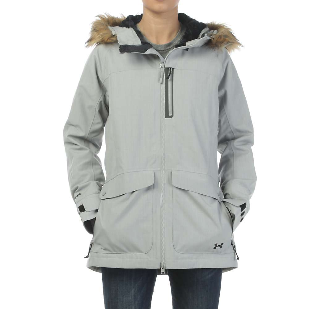 Under Armour Women's ColdGear Infrared Vailer Jacket - Small - Boulder / Black