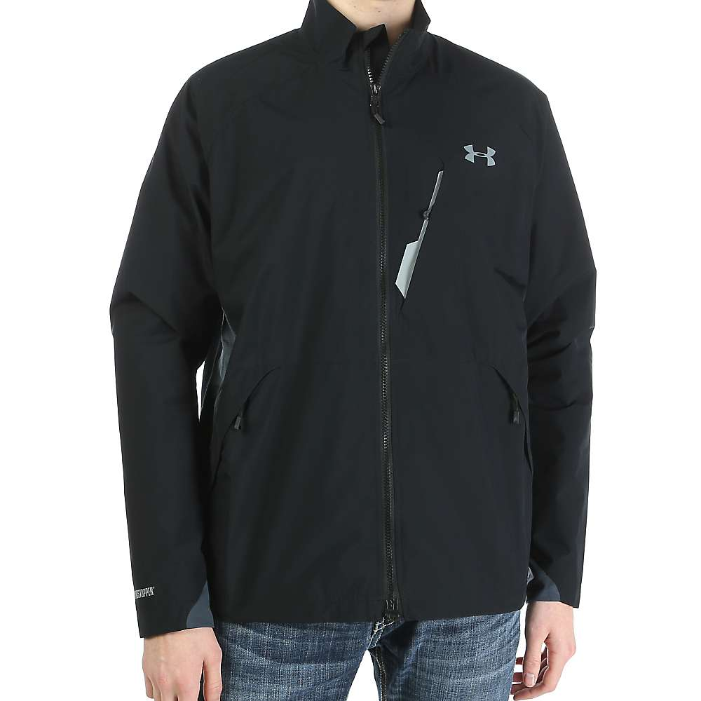 Under Armour Men's ColdGear Infrared Windstopper Shadow Jacket - Large - Black / Steel