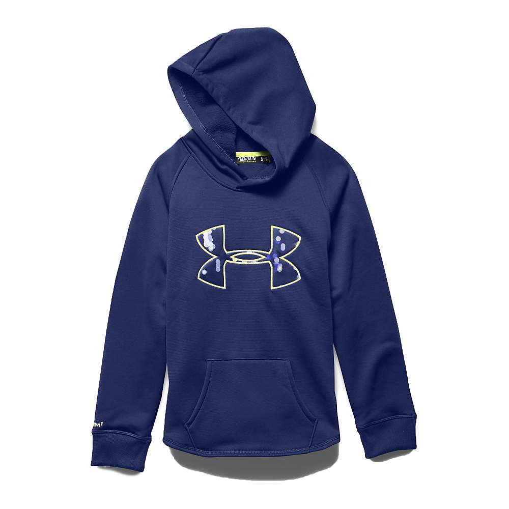 Under Armour Girl's Rival Hoodie - Small - Europa Purple / Europa Purple / X Ray