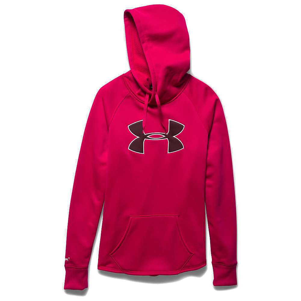 Under Armour Women's Rival Hoodie - Small - Fury / Ox Blood / Ivory