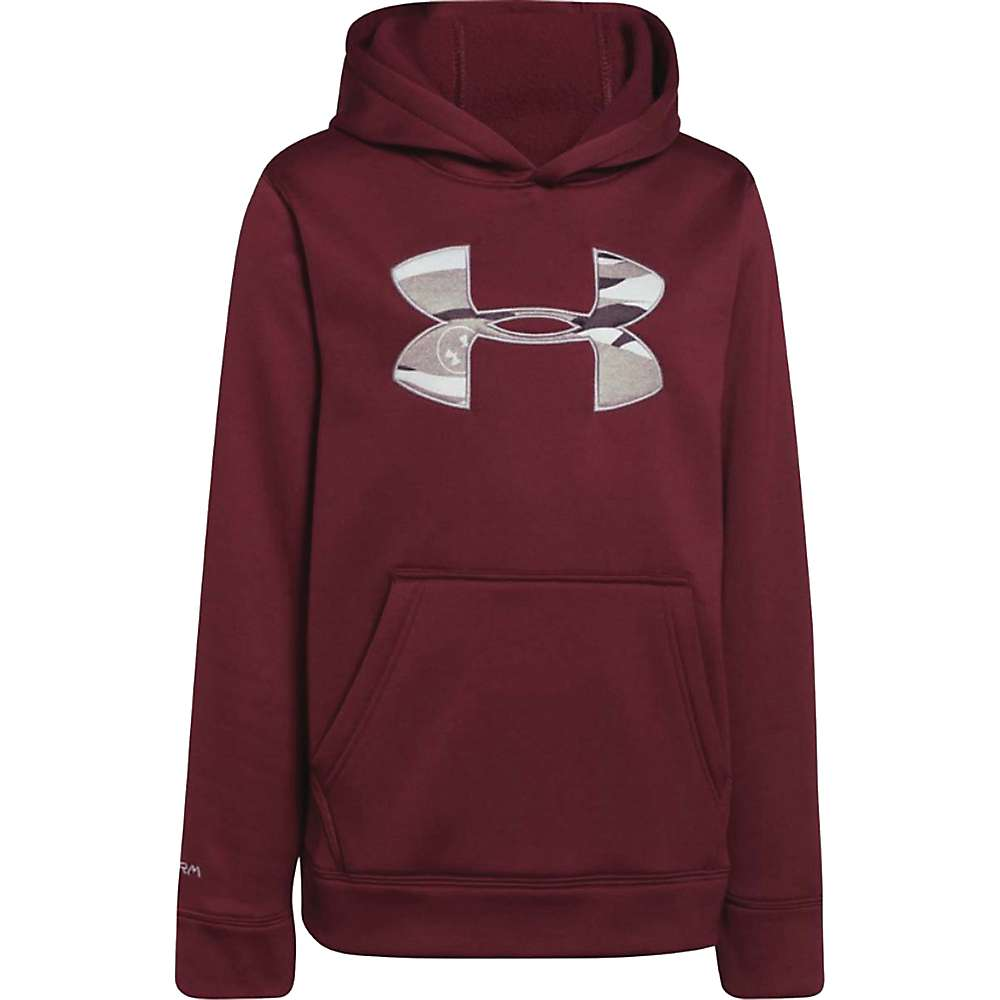 Under Armour Youth Rival Hoodie - Large - Deep Red / Steel