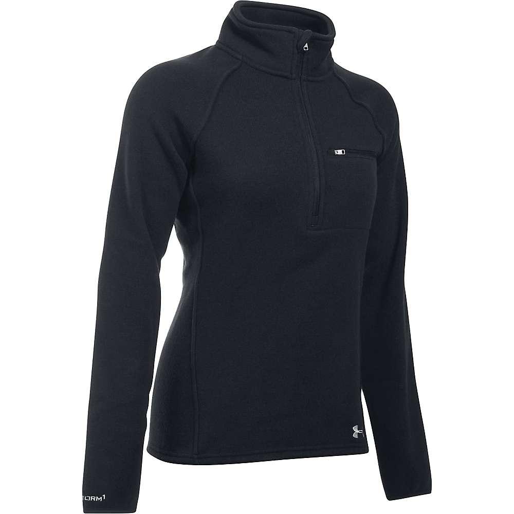 Under Armour Women's Wintersweet 1/2 Zip Top - XS - Black / Glacier Grey