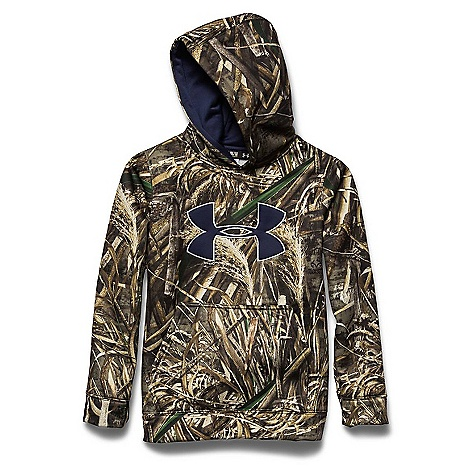 Under Armour Youth Camo Big Logo Hoody Realtree Max 5 / Elemental / Blue Knight