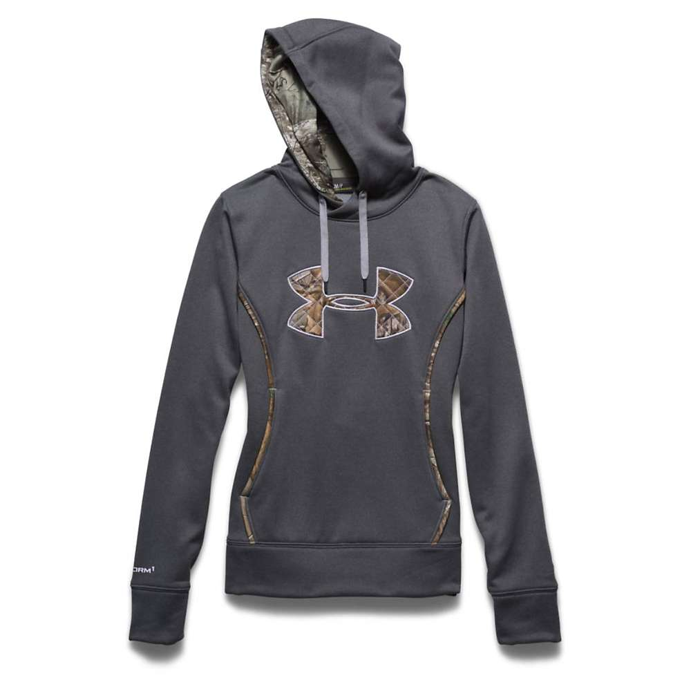 Under Armour Women's UA Storm Caliber Hoody - Small - Carbon Heather / Realtree Ap Xtra