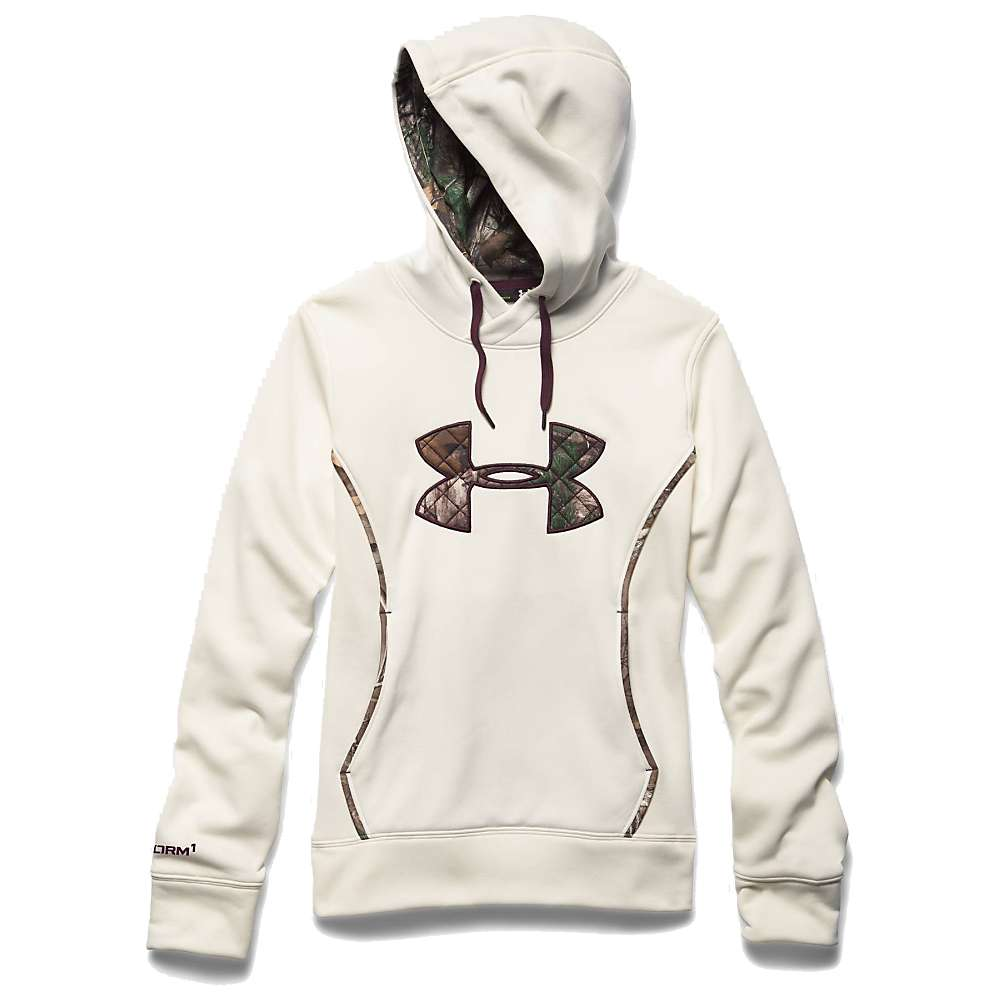 Under Armour Women's UA Storm Caliber Hoody - Small - Ivory / Realtree Ap Xtra / Ox Blood