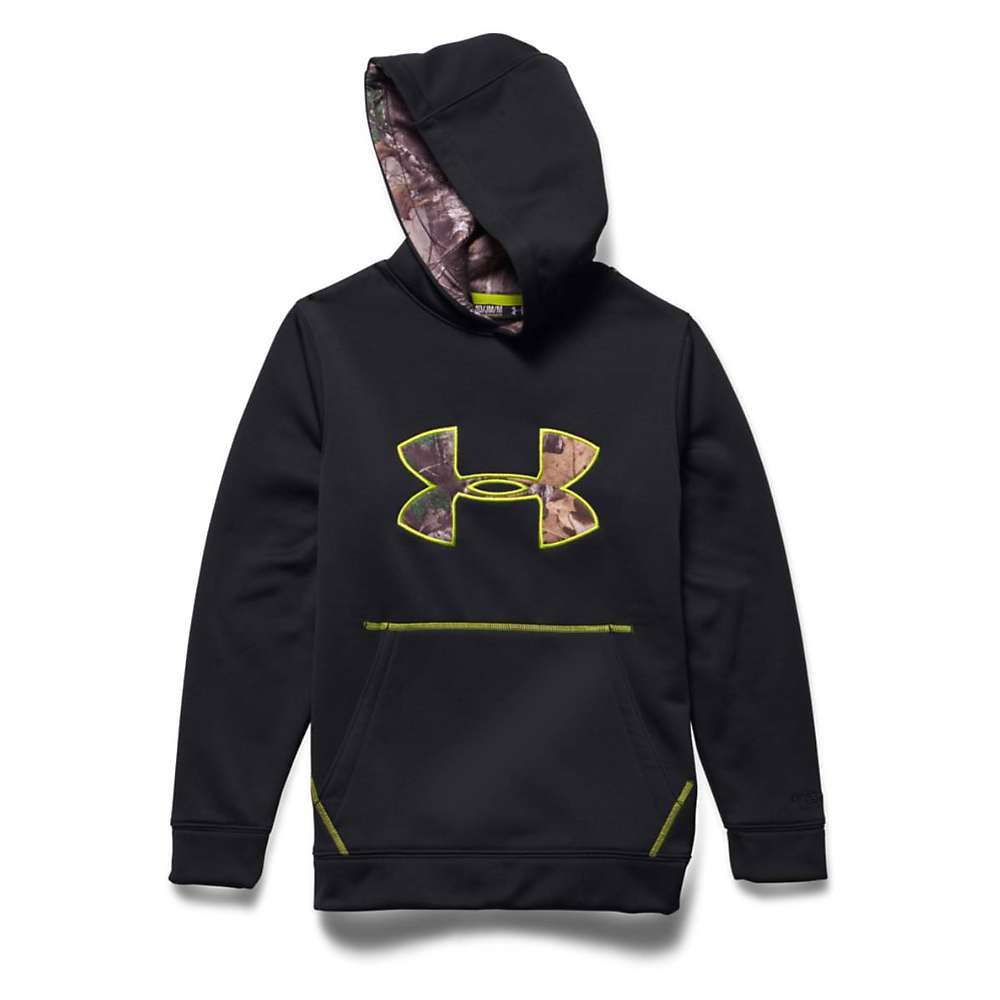 Under Armour Youth Strom Caliber Hoody - Medium - Black / Velocity / Realtree Ap Xtra