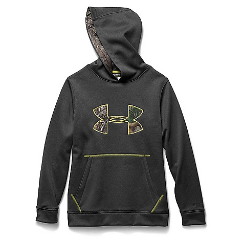 Under Armour Youth Strom Caliber Hoody Carbon Heather / Sunbleached / Realtree Ap Xtra