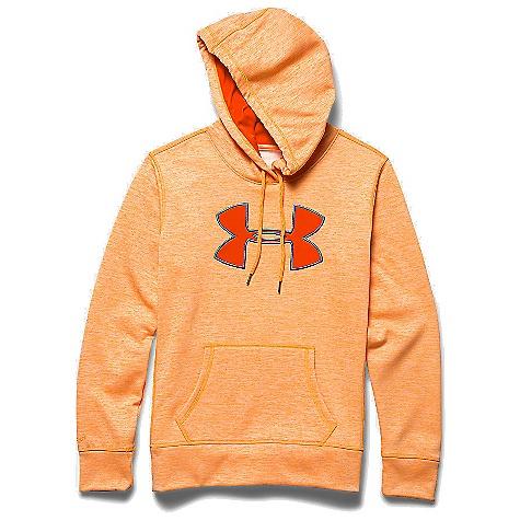 Under Armour Women's Armour Fleece Big Logo Twist Hoody Cyber Orange / Dark Orange / Mirror