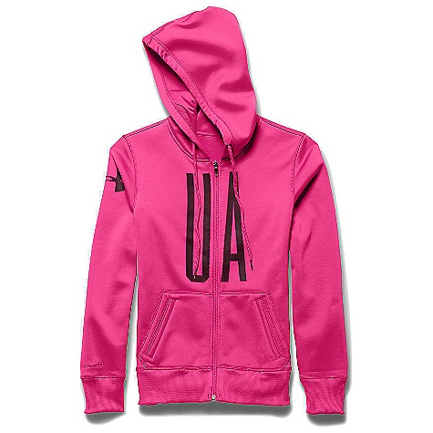 Under Armour Women's Armour Fleece Full Zip Graphic Hoody Rebel Pink / Ox Blood