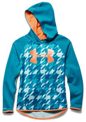 Under Armour Girls' Armour Fleece Printed Big Logo Hoody