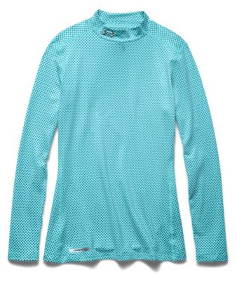 Under Armour Women's Armour ColdGear Printed Fitted Mock Neck Top