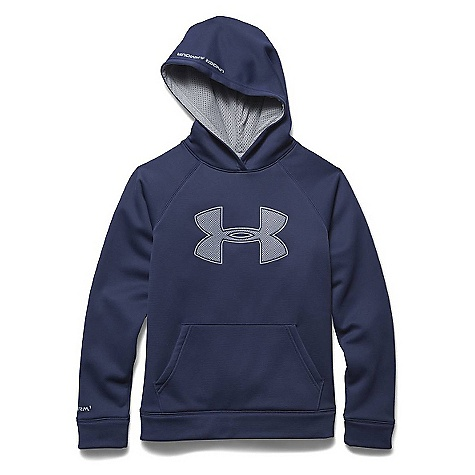 Under Armour Boys' Armour Fleece Storm Big Logo Hoody Blue Knight / Steel